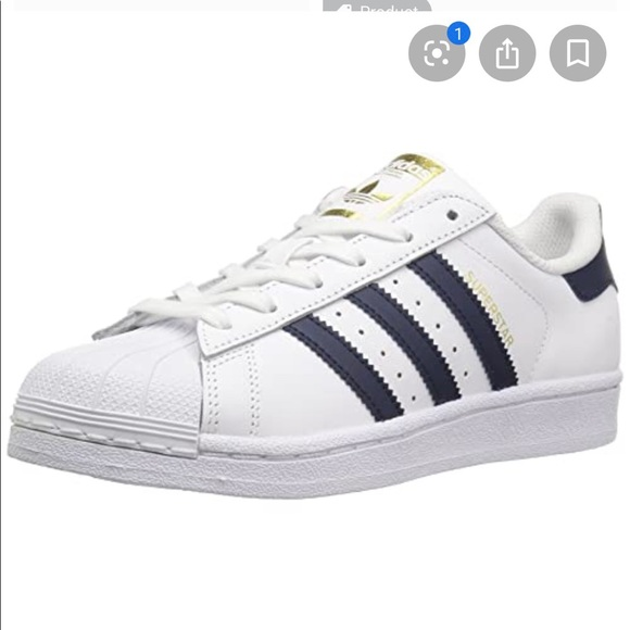 Adidas Superstar Shoes Womens In Navy